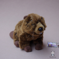 Cute Stuffed Animal Toy Doll Simulation Beaver Children Toys Gifts Educational Good Quality