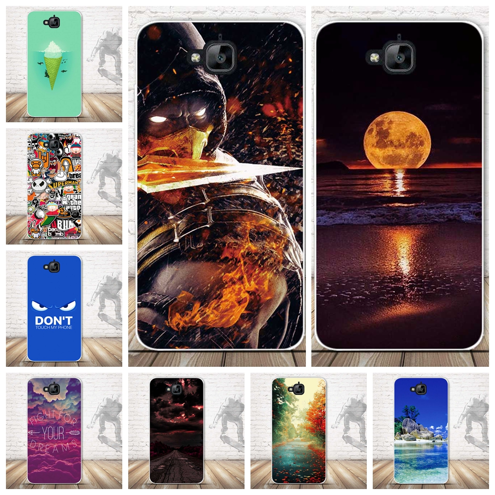 Para Huawei Y6 Pro Caja Del Teléfono de TPU Suave Para Huawei Honor 4C Pro/Disfr