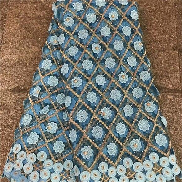 Ev ve Bahçe'ten Dantel'de Ağır Fransız Dantel 3 D Nakış mor taşlar Ile 5 bahçesinde Yumuşak tül net dantel Kumaş için parti düğün elbise'da  Grup 2