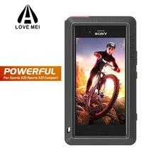 Coque en métal puissante LOVE MEI pour Sony Xperia XZ1 coque de téléphone robuste en aluminium antichoc pour Xperia XZ1 Compact