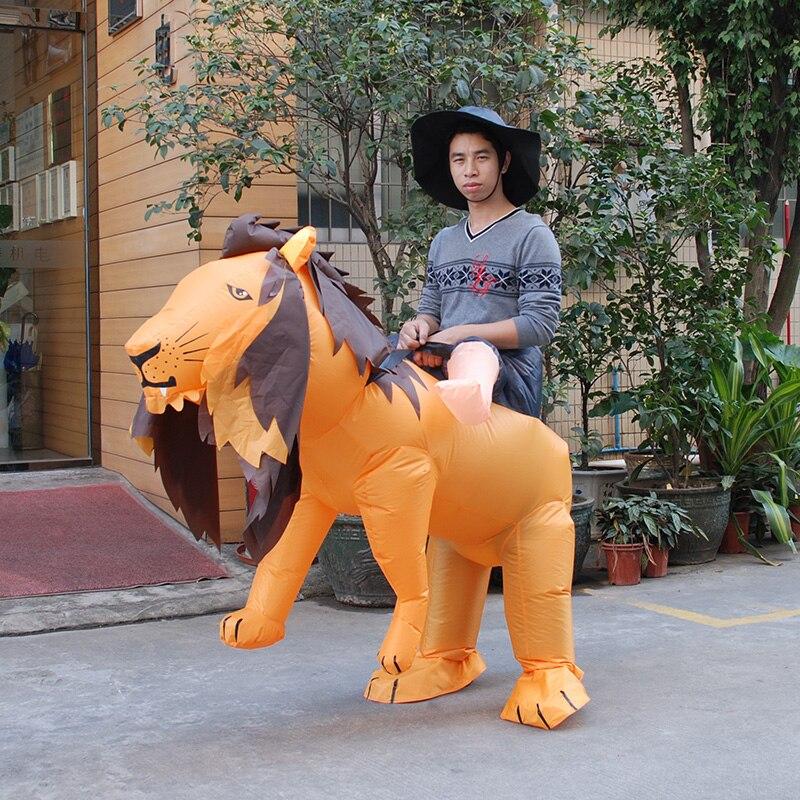 COSTUME de déguisement de LION gonflable tenue de cerf de poule SAFARI Costume de Halloween kigurumi pour les femmes/hommes Costume de tigre gonflable