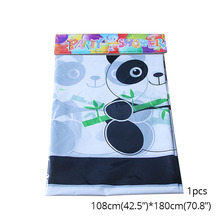 1pcs Panda tablecloth Party Decorations Supplies easter wedding Paper cups decor baby shower for home Activity goods 1pcs emoji disposable tableware tablecloth happy birthday party decorations supplies easter baby shower wedding activity goods