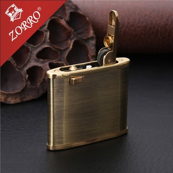 Vintage Copper Gasoline Lighter Oil Petrol Refillable Use  Flint Petrol Gasoline  Kerosene Fire Lighter zorr lighter gasoline lighter kerosene oil petrol lighter refillable cigarette metal retro men gadgets bar lighters