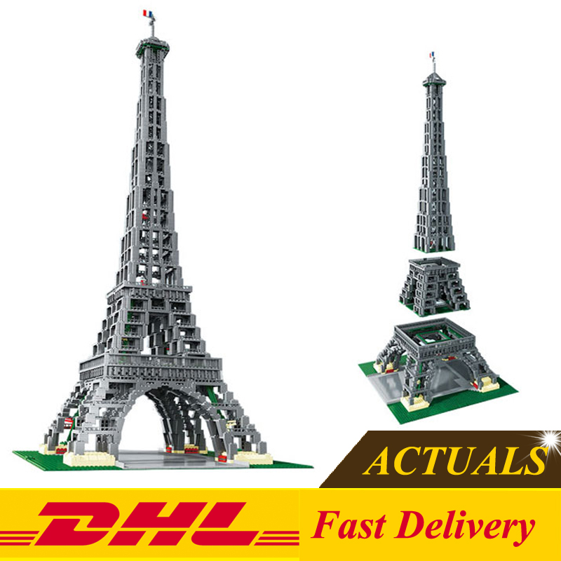 DHL Free 2018 LEPIN 17002 3478pcs The Eiffel Tower Model Building Kits Set Brick Toys Model Gifts Clone 10181 In Stock