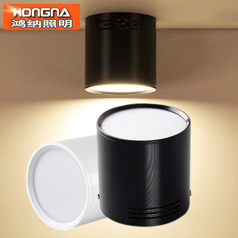 7 W/9 W/12 W/18 W Surface Mounted LED Downlight AC110V/220 V LED da incasso SMD5730 Bianco/Nero/Argento Colore Involucro