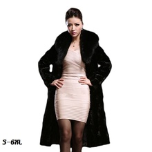 Faux fur coats women 2017 fashion new lady coat mink hair whole fox big collar long section large size