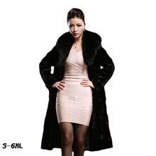 Faux fur coats women 2017 fashion new lady coat mink hair whole fox big collar long section large size