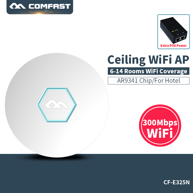 все цены на COMFAST CF-E325N wireless router 300Mbps Ceiling AP openwrt WiFi Access Point AP 2*3 dbi wifi antenna 48v poe Access point онлайн