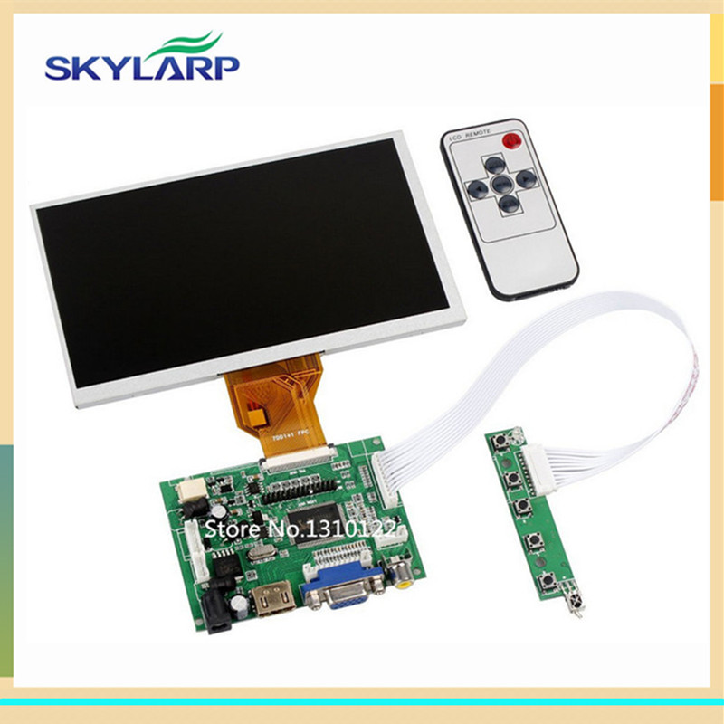 skylarpu 7 inch LCD screen for Raspberry Pi LCD Display Screen TFT Monitor AT070TN90 with HDMI VGA Input Driver Board Controller finesource 7 1280 x 800 digital tft lcd screen driver board for banana pi raspberry pi black