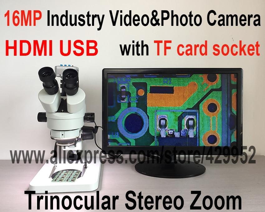 16mp hdmi usb kamera trinokular stereo weiterhin zoom 7 45x