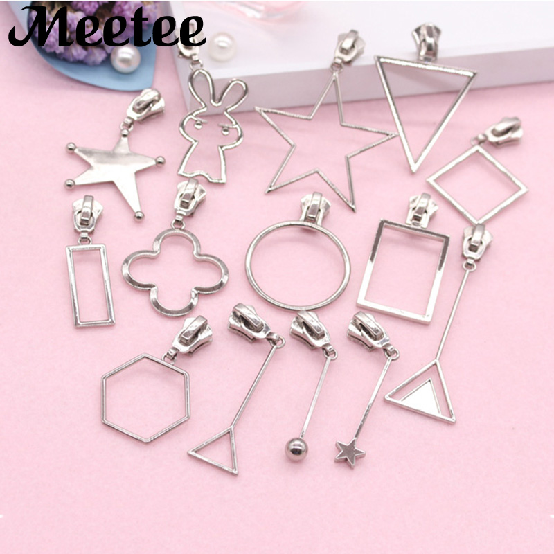 5X Kawaii 5# Metal Zipper Sliders For Jacksets Clothes Metal Zippers Zip Repair Kit Zipper Head DIY Bag Sewing AccessoriesKY076