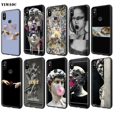 YIMAOC Michelangelo Art Statue Aesthetic Case for Xiaomi Red