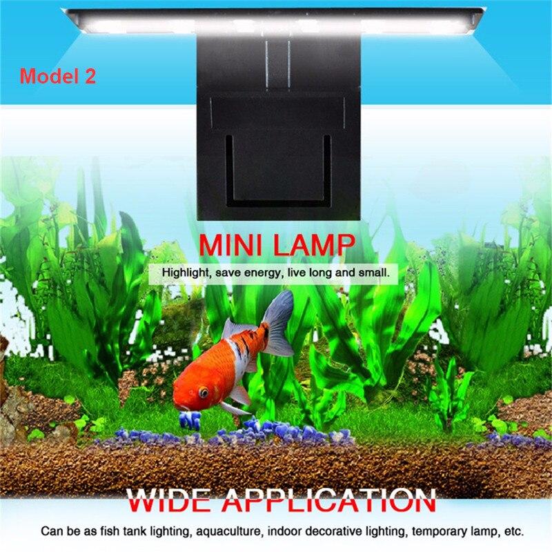 Aquarium LED Light Plants Grow Lighting Fish Tank Waterproof Clip-on Lamp 10