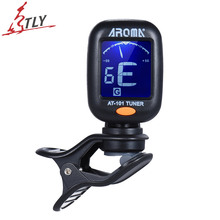 AROMA AT-101 Portable Mini Clip-on Digital Tuner for Chromatic Guitar Bass Violin Ukelele (Battery included)