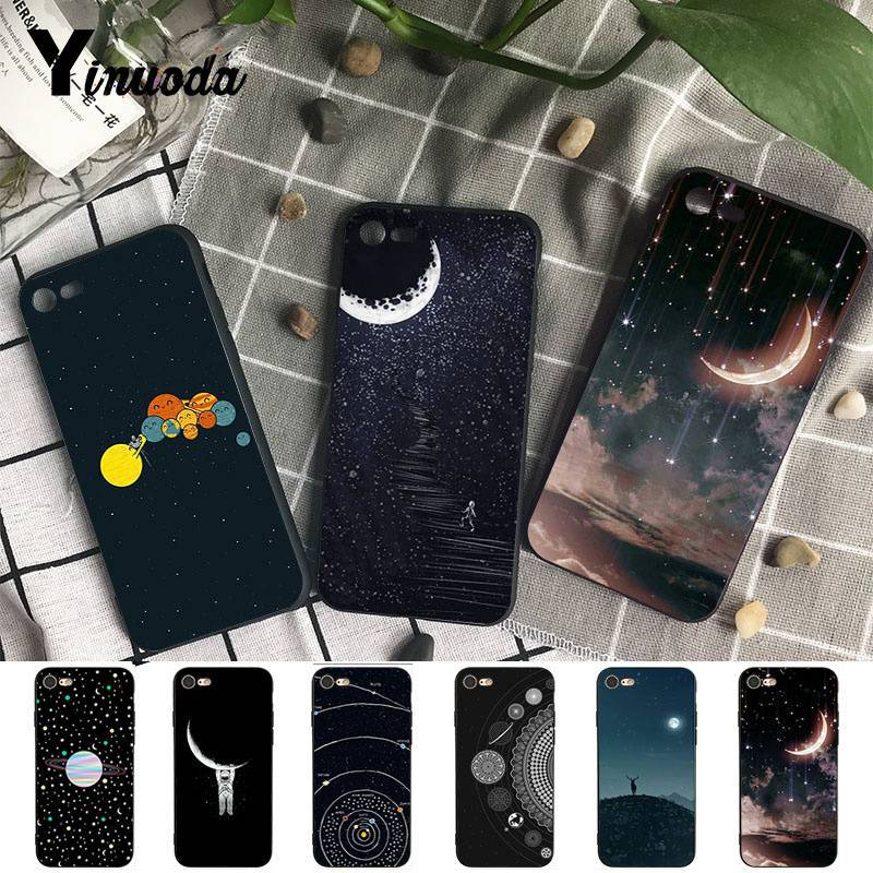 Rapture Yinuoda For Iphone7 Xsmax Case Space Planet Spaceship Constellation Stars Moon Phone Case For Iphone7 6 8 6s Plus 5s Se Xr Xsmax Phone Bags & Cases