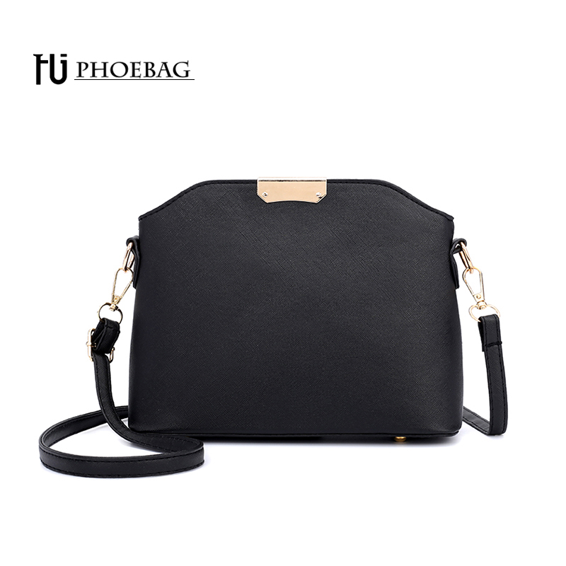 HJPHOEBAG Fashion women shoulder bag high quality small ladies crossbody bags PU feminine shopping bag leather black bags HJ-868 japanese pouch small hand carry green canvas heat preservation lunch box bag for men and women shopping mama bag