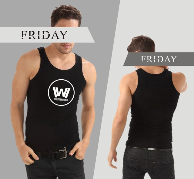 02624542e4d30 US $7.76 32% OFF|Westworld Sleeveless Tank Top Summer Men Bodybuilding And  Plus Size Cotton Exercise Workout Tank Tops West World Logo Clothes-in Tank  ...