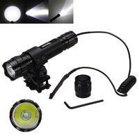 5000Lm Taschenlampe XML T6 LED Military Jagd Taschenlampe 18650 Batterie + Fernbedienung Druck Schalter + Ladegerät