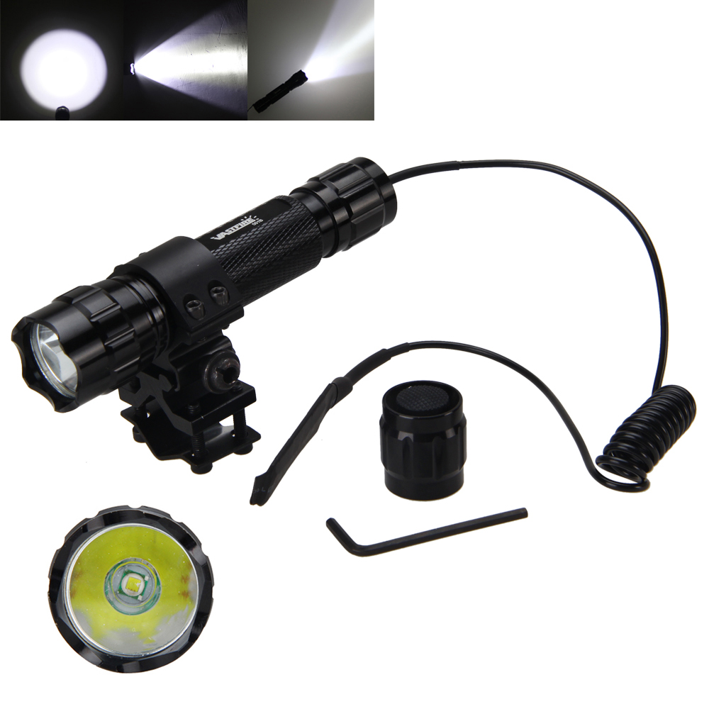 тактический T6 светодиодный XML 5000lm Сид военное дело охота фонарик факел 18650 + удаленного коммутатора + зарядное устройство