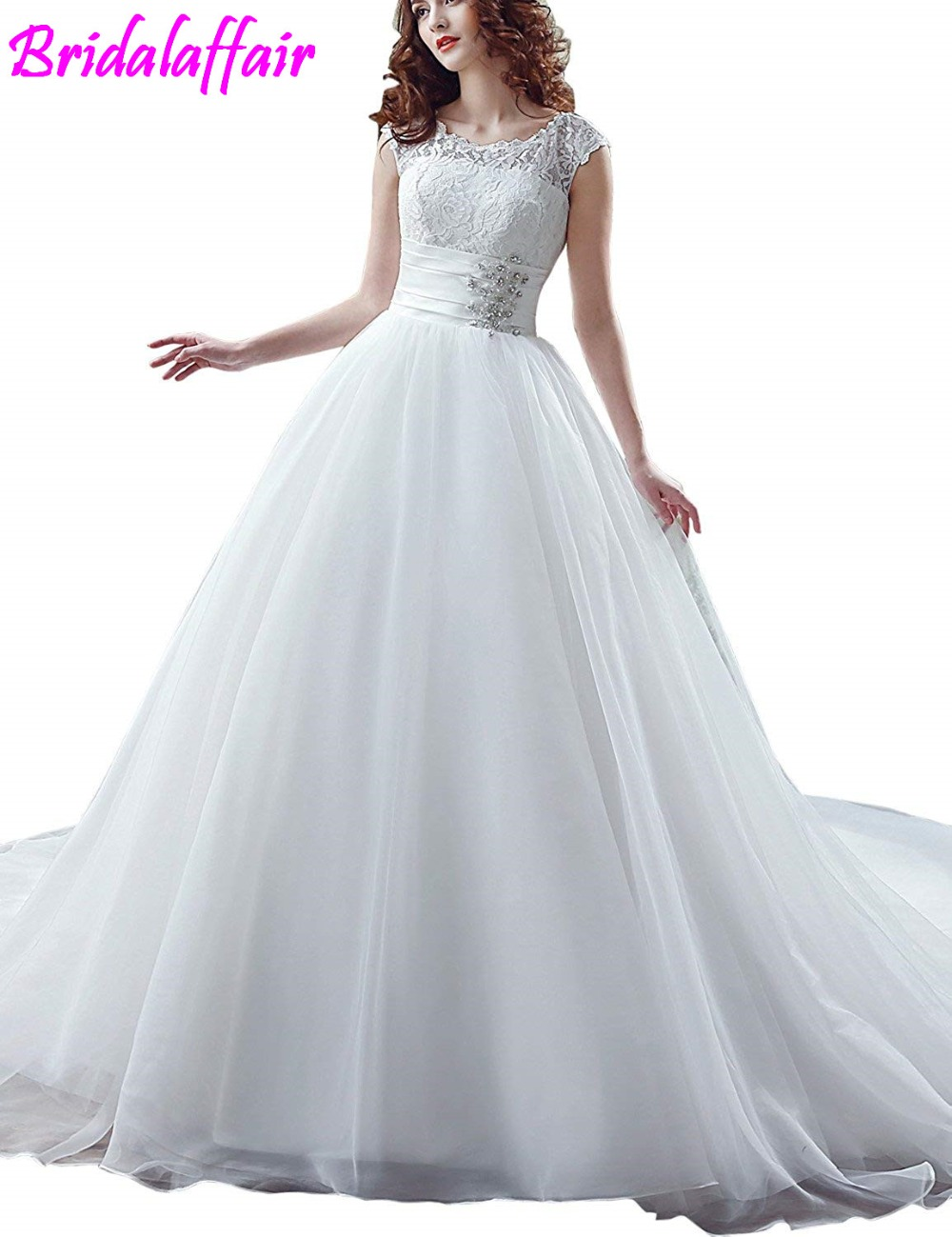 Women's Mermaid Chapel Train Wedding Dress Lace Bridal Gown Vestido De Festa Longo Cheap Wedding Dresses With Free Shipping