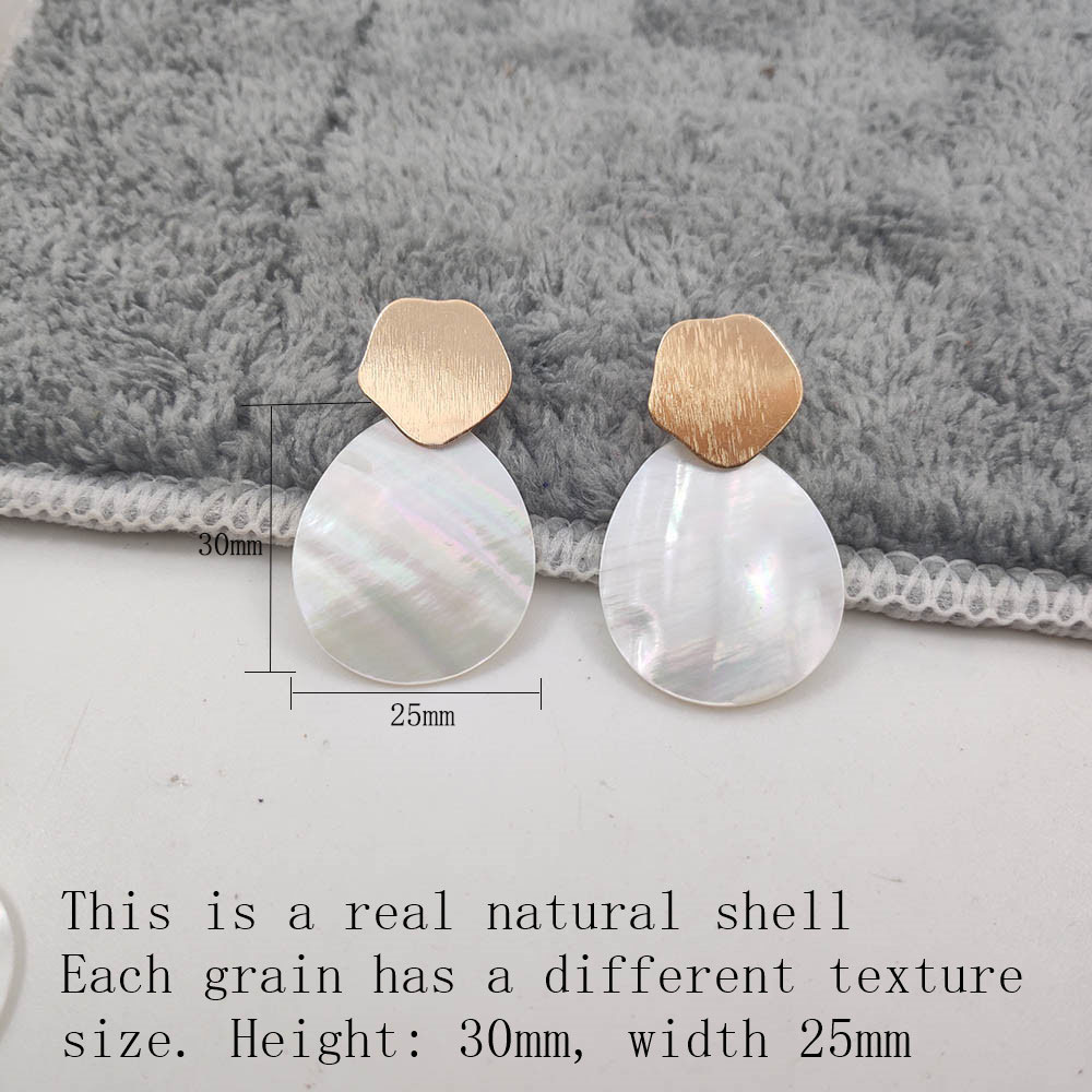 Fashion Wedding Jewelry Hanging Natural Shell Pearl Geometric Earrings High Quality Natural Shell Pendant Earrings for women P40 33