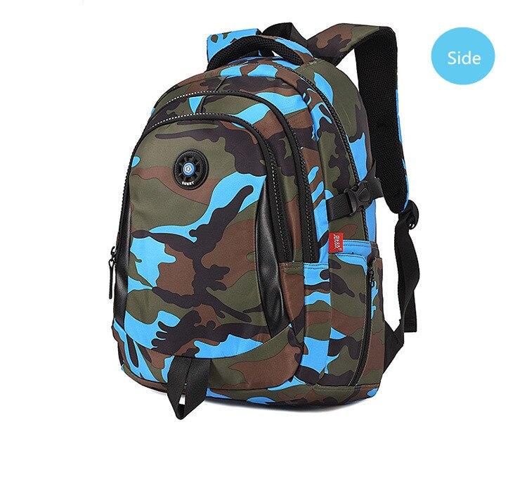 Boys school backpack waterproof nylon bag kids backpack camouflage children  backpacks schoolbag orthopedic school bag bookbag-in Backpacks from Luggage  ... c72430c7df315