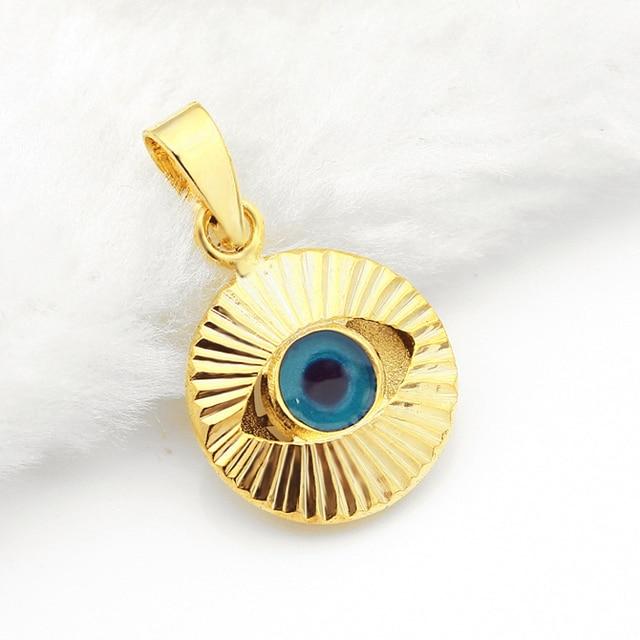 Turkish evil blue eye pendant necklace copper 18k gold plated charm turkish evil blue eye pendant necklace copper 18k gold plated charm muslim arabric necklace jewelry women aloadofball Images