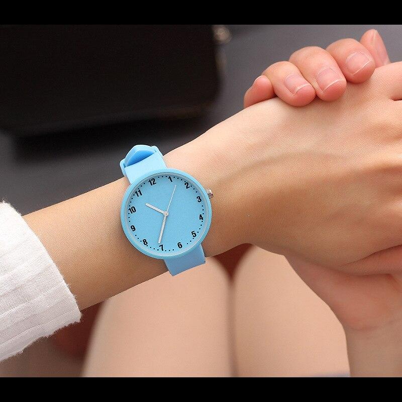 2018 Hot Sale Fashion Cartoon Cute Jelly Solid Color Quartz Watches Boys Girl Kids Child Wrist Watch Child Clock Children Gifts