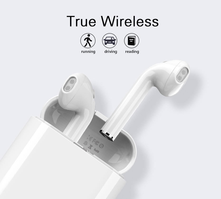 Langsdom T7 Mini Bluetooth Earphone with Charging Box TWS Headset with Mic Speaker Stereo Earphone for iphone xiaomi Android xiaomi mini bluetooth speaker full metal case with mic