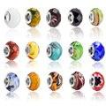 20 Pçs/lote Material de DIY Handmade Jóias De Prata Banhado A Jade Pedra Crystal Glass Beads Glaze fit para Pulseira Pandora e Colar