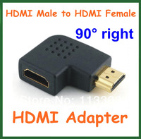 2pcs HDMI Adapter HDMI Male to HDMI Female 90 Degree Angle Right Converter Connector for Cable HD TV DVD HDMI Extender