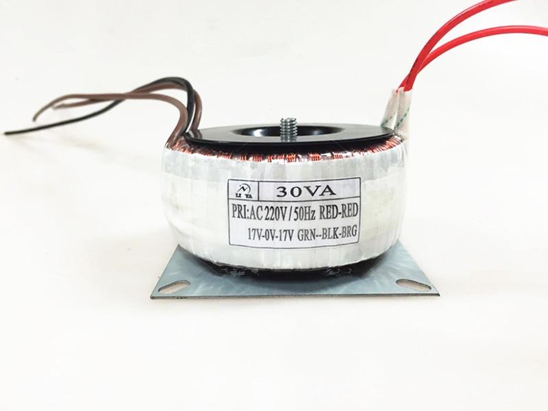 30W Toroidal transformer 220V /110V input double 12V/15V/18V/22V for power amplifier preamplifier decoder player free shipping noratel toroidal seal tokon transformer double 30w 18v 30va