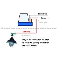 220 В/10 А автоматический сенсорный переключатель управления фото Автоматическое включение/выключение света переключатель энергосбережение для уличного фонаря садовый светильник 50-60 Гц