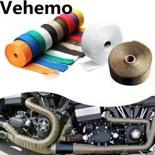 10M 5M 6 Color Heat Exhaust Thermo Wrap Shield Protective Tan Tape Fireproof Insulating Cloth Roll Kit for Motorcycle Car