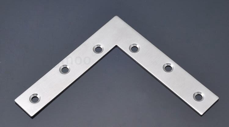 2x corner brackets stainless steel 90 angle furniture connec