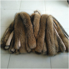 Winter New Arrvial Fashion Warm Real Fur Collar Scarves 100% Genuine Raccoon Fur
