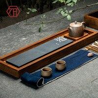 [Yan Mountain] new Chinese creative Zong bamboo Wujin stone tea tray meditation bamboo tea factory wholesale