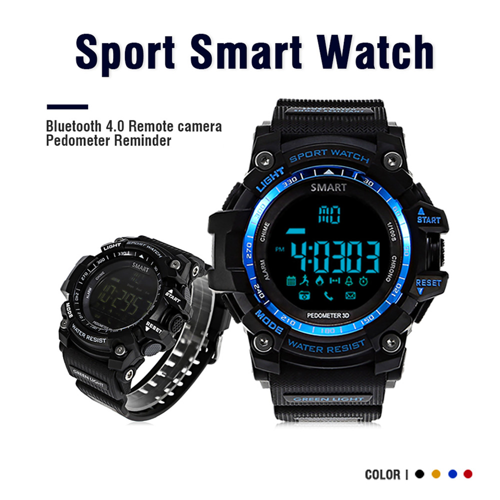 AIWATCH XWATCH Sport Smart Watch Pedometer Stopwatch 5ATM Waterproof Smartwatch Call Message Reminder Wristwatch for Android