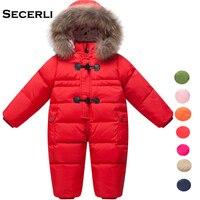 Winter Baby Girls Boys Romper 12M 24M 36M Hooded Kids Snowsuit Windproof Warm Toddler Jumpsuit Baby Children Ski Suit Overalls
