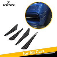 Carbon Fiber Front Bumper Trims Spoiler Fins Canards for BMW E90 E92 Audi A5 A3 C63 C43 A45 AMG Universal Car Accessories