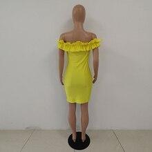 Neon Green Yellow Elegant Bandage Dress Women Cascading Ruffle Backless Slim Fit Dress Summer Slash Neck Short Sleeve Wrap Dress