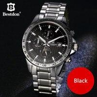 Bestdon Мужские часы автоматические механические часы Moon Phase часы Полный Сталь Спорт Военная наручные часы Relojes HOMBRE Лидирующий бренд