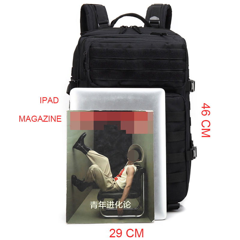 Taktischer Rucksack 50L Kapazit/ät M/änner Armee Milit/ärische Taktische gro/ße Rucksack wasserdicht Outdoor Sport Wandern Camping Jagd 3D Rucksack Taschen f/ür M/änner