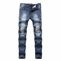 Brand Street Jeans Holes Men Casual Straight Denim 2018 Men S Fashion Jeans Slim Denim Overall