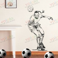 Free shipping Wall Stickers Wholesale and retail Wall decor PVC material decals wallpaper football World Cup Z-188