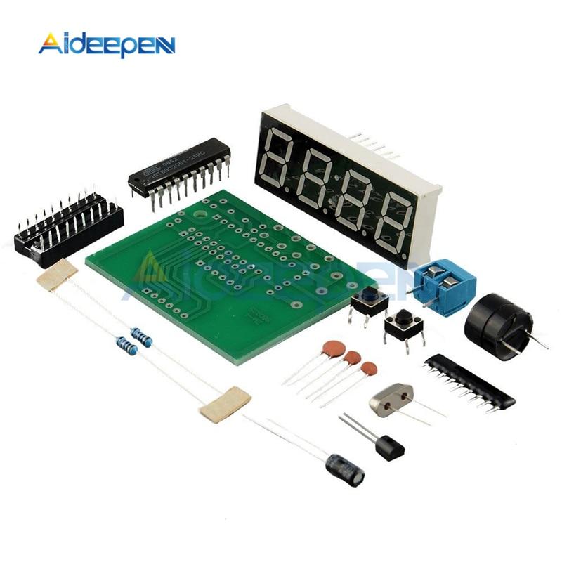 US $1.17 22% СКИДКА|DC 3 V 6 V AT89C2051 светодиодные цифровые 4 бит электронные часы набор для производства электроники DIY Kit C51 электронные часы|Детали и аксессуары для приборов| |  - AliExpress
