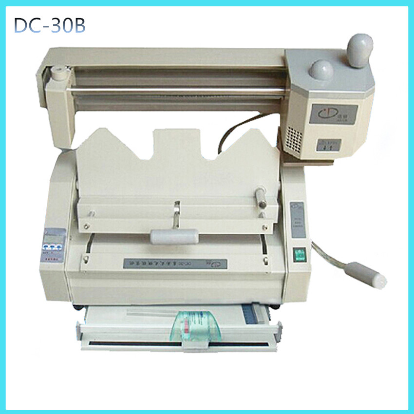 DC-30B multi-functional book binding machine,perfect glue binding machine with LCD