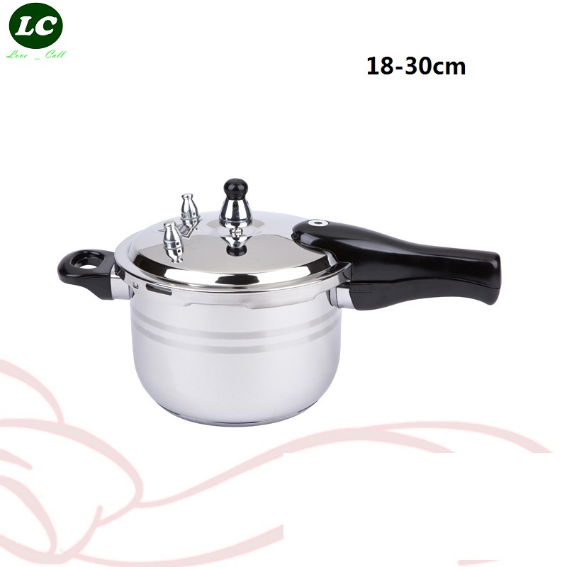 FREE SHIPPING Stainless steel pressure cooker 16 30 cm COOKING PAN stew pot induction cooker pressure