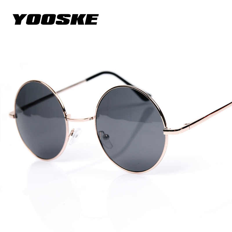 nuevo diseño calidad primero original de costura caliente YOOSKE gafas de sol redondas Vintage para Mujeres Hombres marca de  diseñador gafas de espejo Retro mujer hombre gafas de sol para hombres  mujeres