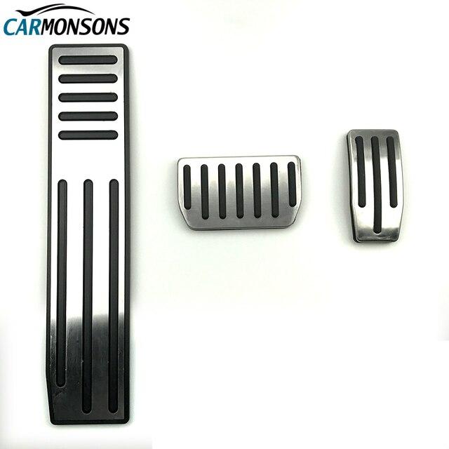 Carmonsons без сверления для Tesla модель S модель X газ топлива Тормозная ног накладки на педали коврики покрытия аксессуары автомобиль стиль